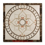 "Chelsea, 48"" Square Waterjet Stone Floor Inlay"