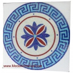 "Glass, 36"" Polished Mosaic Pool Medallion"