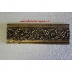 "Gold Floral - Resin Stone Border, 4"" x 12"""
