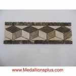 "Granite and Marble II Non-Polished - Tile Border 4"" x 12"""