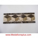 "Granite and Marble II Polished - Tile Border 4"" x 12"""