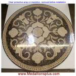 "Rosea 48"" Polished Mosaic Floor Medallion"