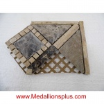 "3D Dark Emperador Honed Corner- Tile Border 5"" x 12"""
