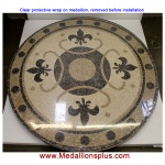"RENAISSANCE, 60"" Honed Mosaic Floor Medallion"