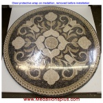 "Rosea 36"" Honed Mosaic Floor Medallion"
