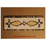 "Honey, Mosaic Tile Listello 4"" x 12"""