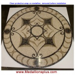 "Mariposa 48"" Honed Mosaic Floor Medallion"