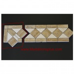 "Travertine and Marble Large - Tile Border 5"" x 12"" - Corner"