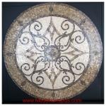 "KRISTINE, 24"" Polished Mosaic Floor Medallion"