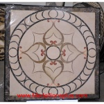"Chelsea, 48"" Square Honed Waterjet Stone Floor Inlay"