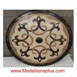 "mayflower, 48"" non-polished Stone Floor Medallion"