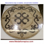 "Seville 60"" Polished Mosaic Floor Medallion"