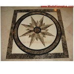 "STAR LIGHT, 12"" Square Waterjet Medallion"