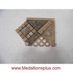 "3D Dark Emperador Honed Corner- Tile Border 4"" x 12"""