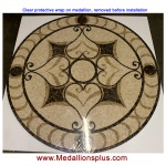 "Mariposa 48"" Polished Mosaic Floor Medallion"