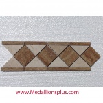 "Travertine and Marble Polished- Tile Border 4"" x 12"""