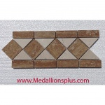 "Travertine and Marble Large Polished- Tile Border 5"" x 12"""