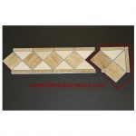 "Travertine and Marble Honed - Tile Border 4"" x 12"" - Corner"