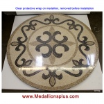 "Seville 60"" Honed Mosaic Floor Medallion"