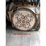 "BORDEAUX, 36"" Waterjet Medallion"