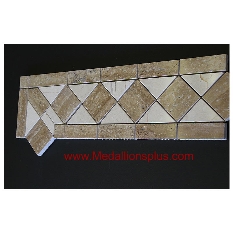 Travertine And Marble Large Tile Border 5 Quot X 12