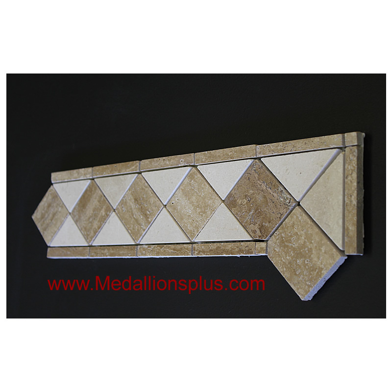 Travertine And Marble Honed Tile Border 4 X 12