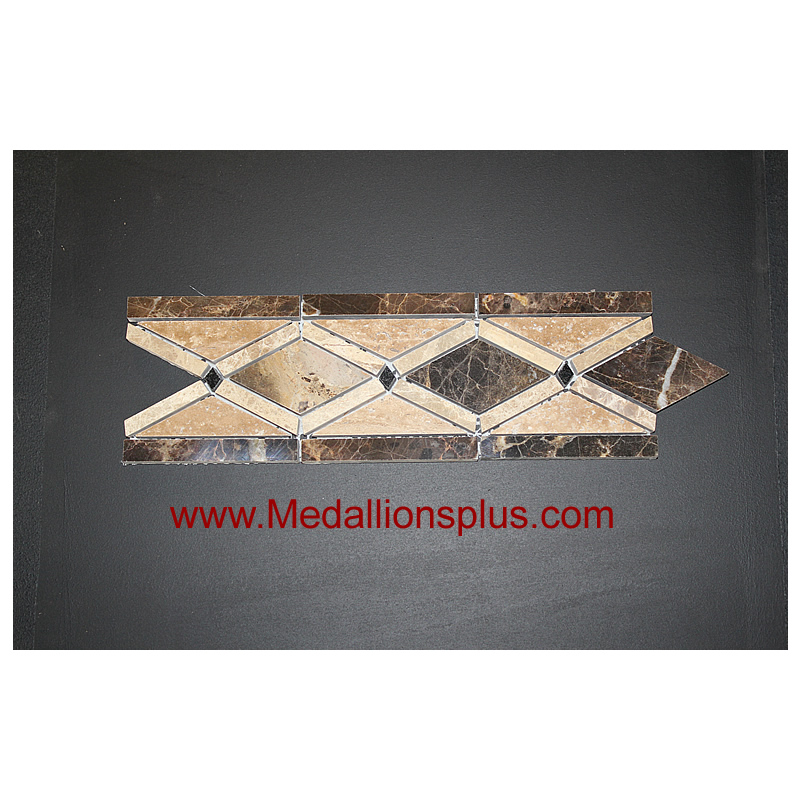 X 12 Marble Chain Polished Tile Border 4