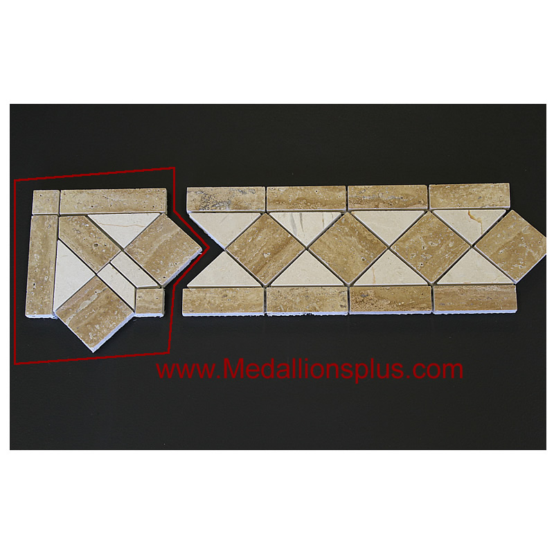 Travertine And Marble Large Tile Border 5 X 12