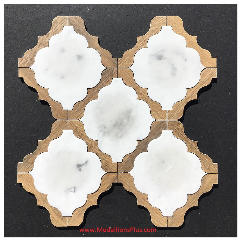 Waterjet Tile Design 30 Marble Wood Porcelain D