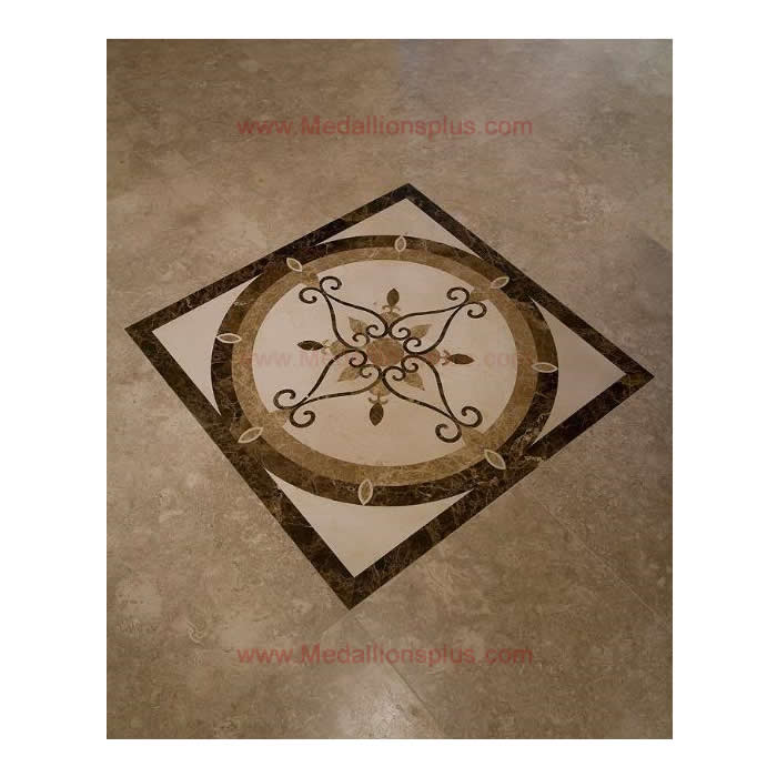 32 Square Stone Floor Inlay Floor Medallions