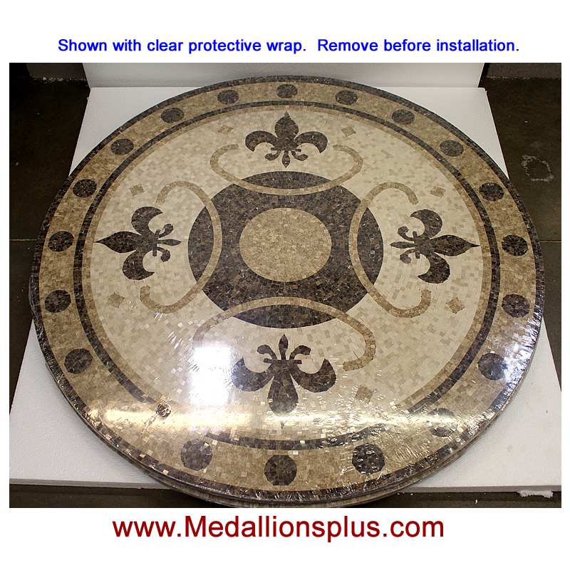 Circular Marble Inlay Flooring : Renaissance quot polished mosaic floor medallion