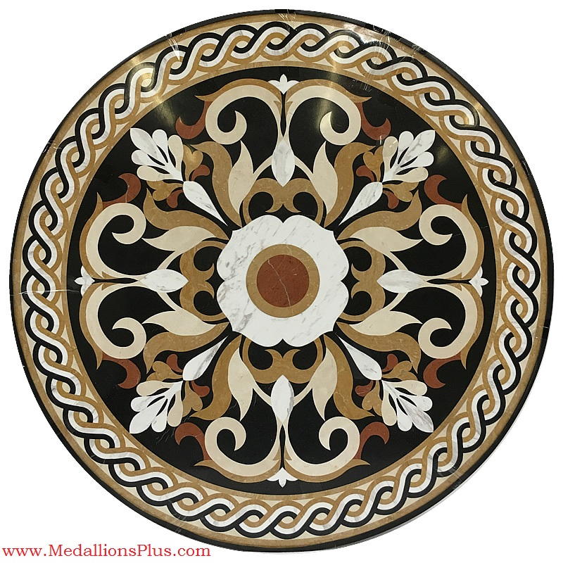 mosaic medallion shell murals pools dolphins agape circle tile custom five handcut gem stone index bisazza