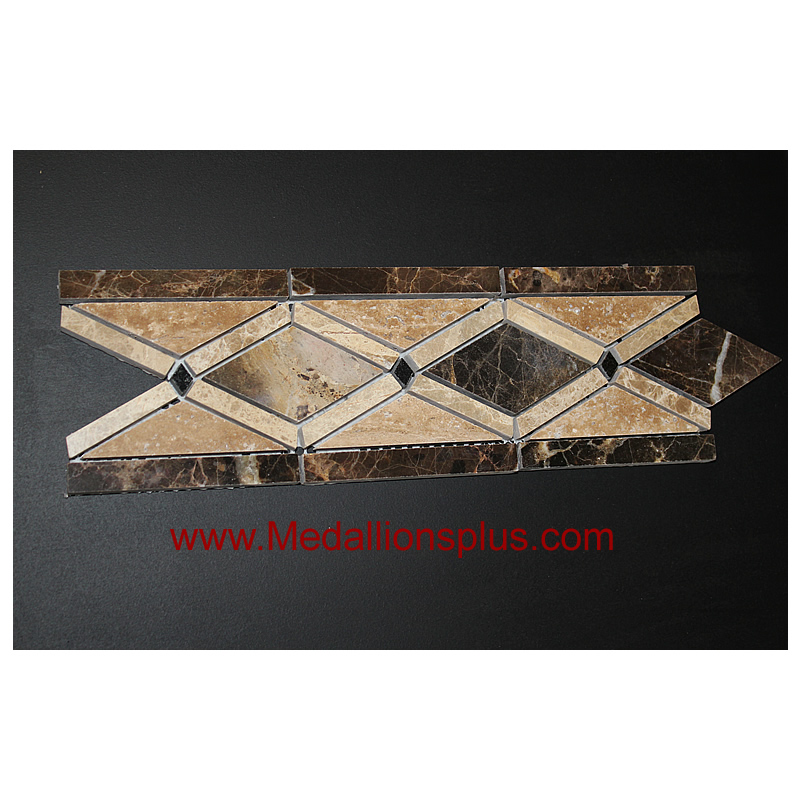 Marble Chain Polished Tile Border 4 X 12