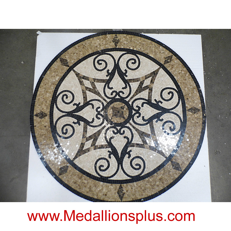 Kristine Ii 60 Quot Polished Mosaic Floor Medallion