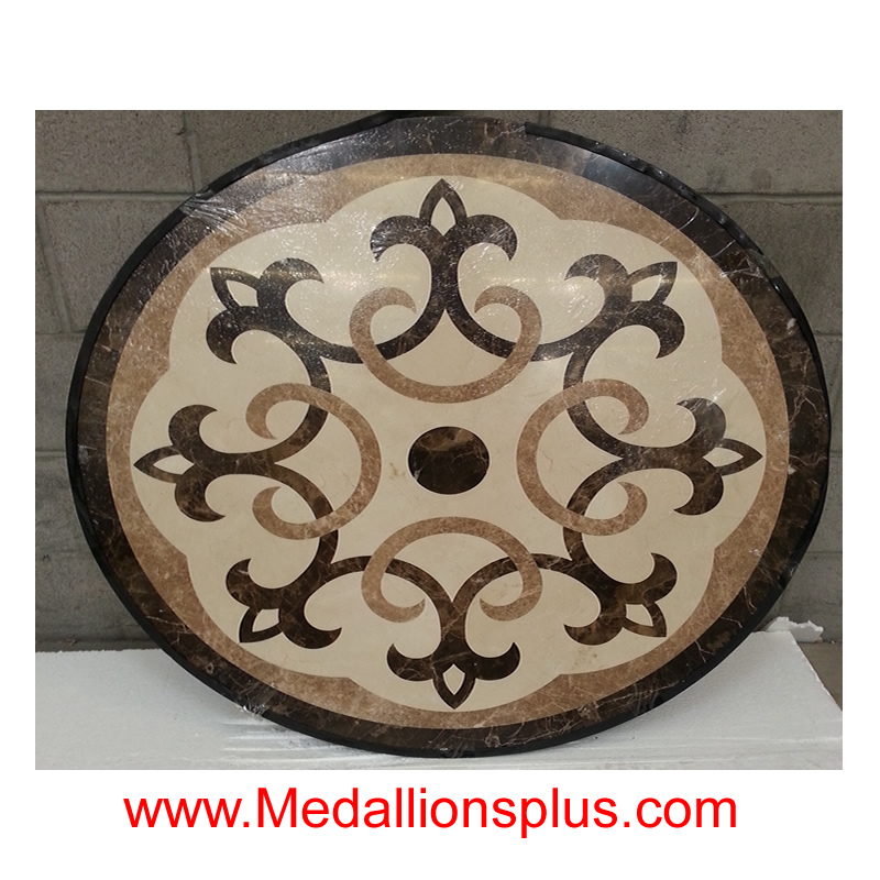 Mayflower 48 Stone Floor Medallion