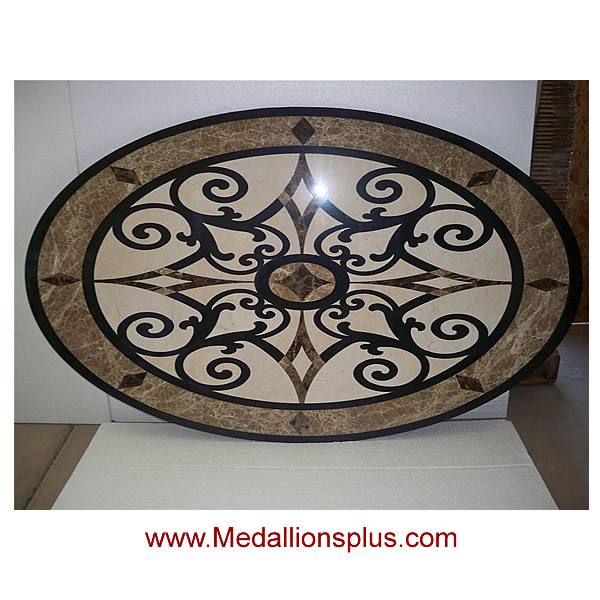Waterjet Oval Medallion Design 10