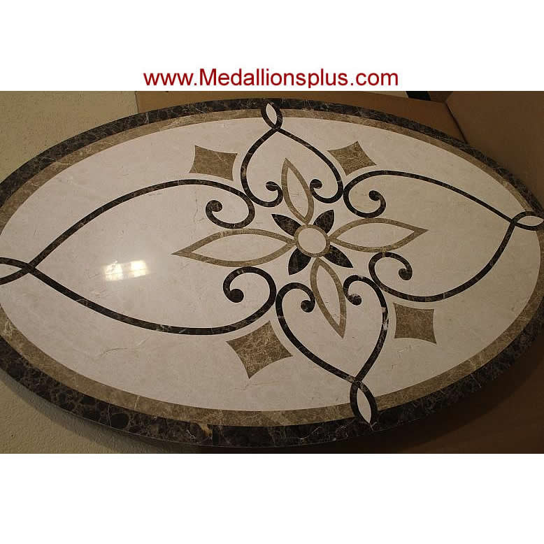 Waterjet Oval Medallion Design 7