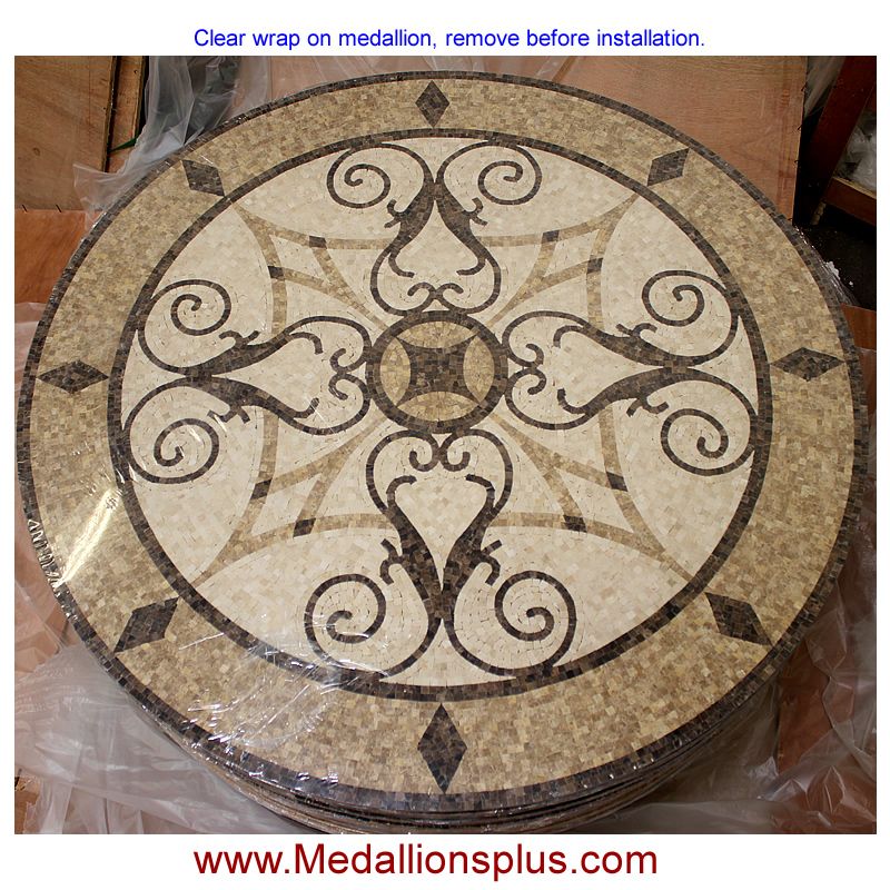Kristine 36 Quot Polished Mosaic Floor Medallion