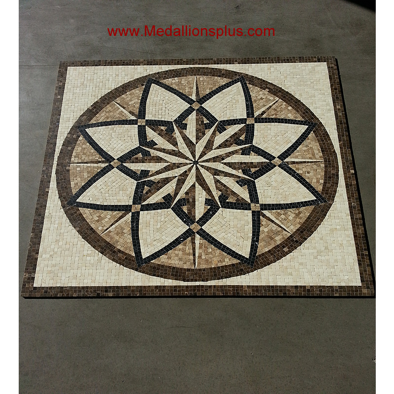 Star Melody Polished 24 Quot Square Mosaic Medallion